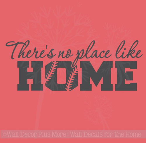 No Place Like Home Softball Sports Decals Wall Sticker Vinyl Lettering Art Bedroom Decor
