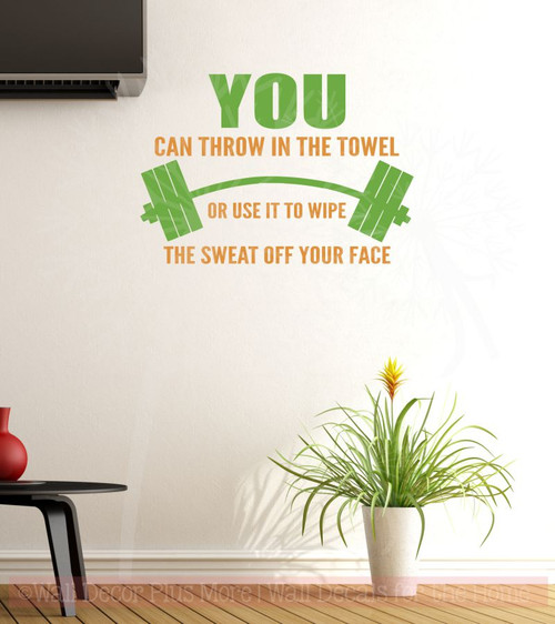 never throw towel quote Bathroom Wall Art Quote Sticker Vinyl Decal Home Art