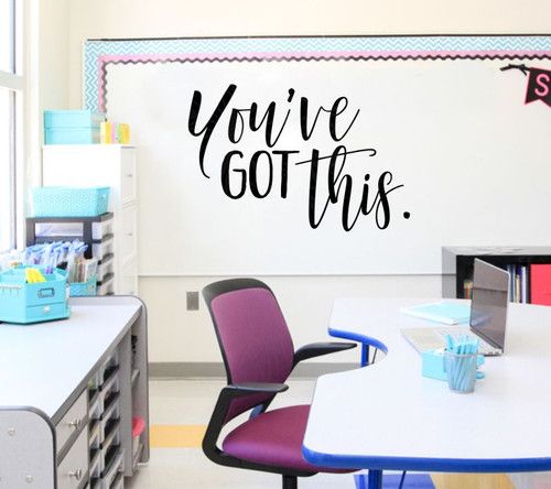 You've Got This Motivational Wall Art Stickers Vinyl Letters Decals Quotes-Black