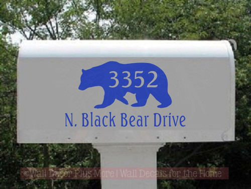 Custom Lettering Mailbox Decals Stickers Address Bear Vinyl Personalized