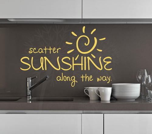 Scatter Sunshine Along the Way Wall Art Decals Vinyl Stickers Quotes-Buttercream