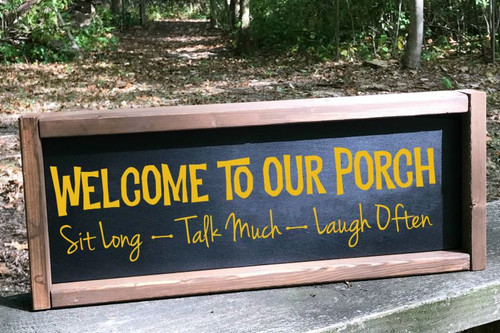 Welcome To Our Porch Wall Decals Quote Vinyl Lettering Stickers Entry Home Decor-Mustard