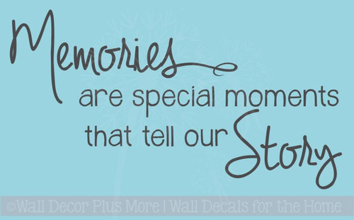 Memories Tell Our Story Family Wall Decals Vinyl Lettering Stickers  Home Decor Quote