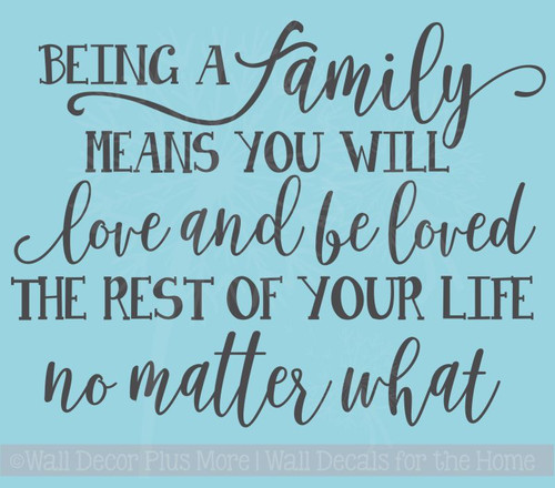 Family's Love Rest of Your Life Family Wall Stickers Vinyl Lettering Decals Home Decor Quote