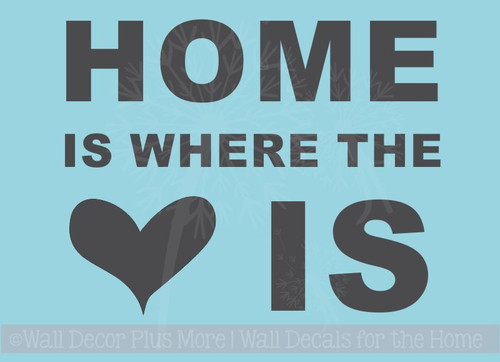 Home Is Where Heart Is Wall Sticker Decals Vinyl Lettering Art Entry Quote