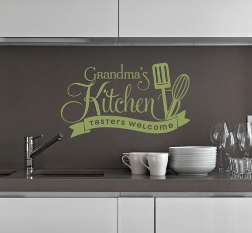 Grandma S Kitchen Tasters Welcome Vinyl Wall Decals Decor Stickers