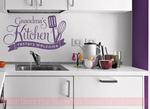 Grandma\'s Kitchen Tasters Welcome Vinyl Wall Decals Decor Stickers
