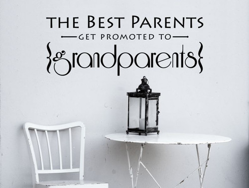 Best Parents Promoted to Grandparents Vinyl Letters Art Wall Decals Stickers Gift-Black