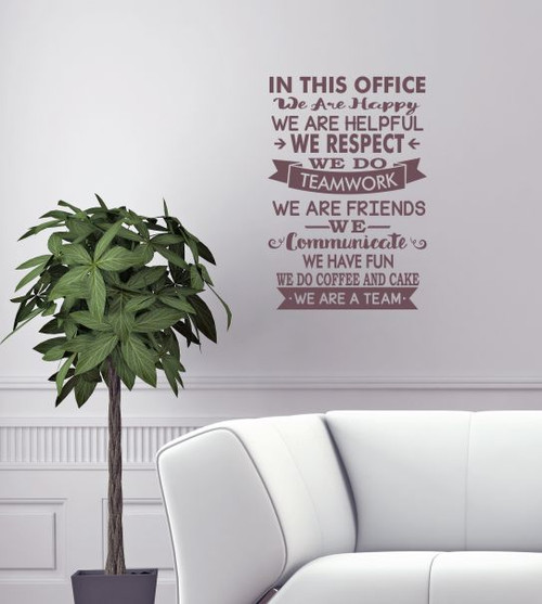 In This Office We Are Team Vinyl Decals Wall Stickers Art Work Decor Classy Wall Art Quotes