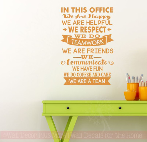in this office we are team vinyl decals wall stickers art work decor