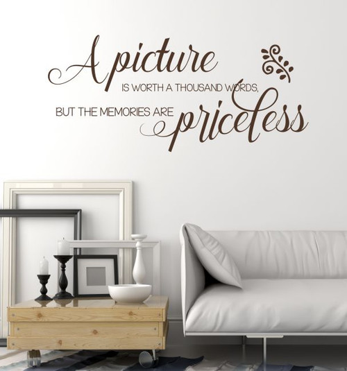 Picture Is Worth Thousand Words, Memories Priceless Family Wall Decals Vinyl Stickers Quote-Chocolate