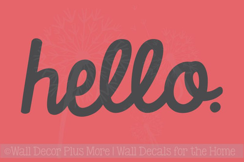 Entry Hello Vinyl Lettering Art Wall Sticker Decals Welcome Home Decor Quote