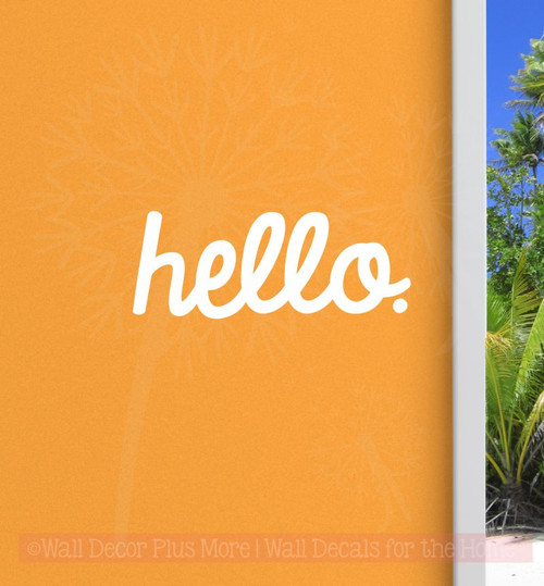 Entry Hello Vinyl Lettering Art Wall Sticker Decals Welcome Home Decor Quote-White