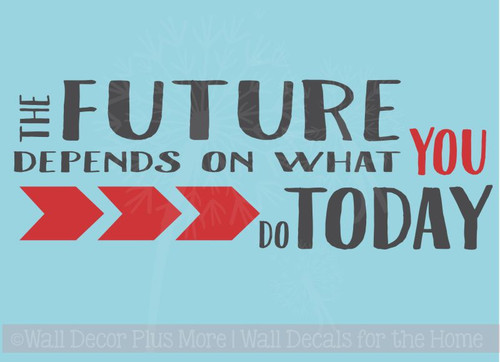 Motivational Wall Stickers Future Depends on You Art Decals Vinyl Lettering