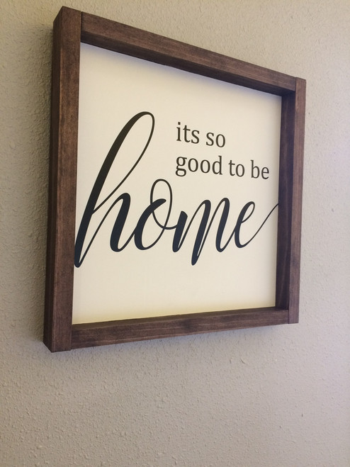 It's So Good To Be Home Family Wall Sticker Vinyl Lettering Decals Kitchen Quotes on frame