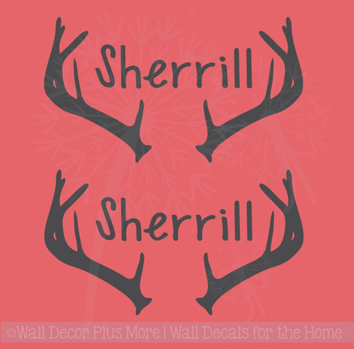 Antlers Name Personalized Vinyl Letters Art Bean Bag Board Decals