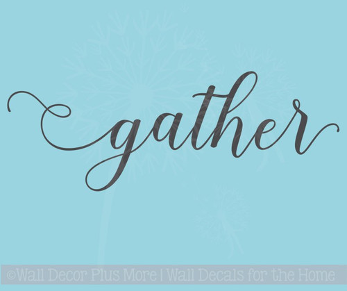 Gather Handwritten Font Vinyl Lettering Fall Wall Decal Stickers