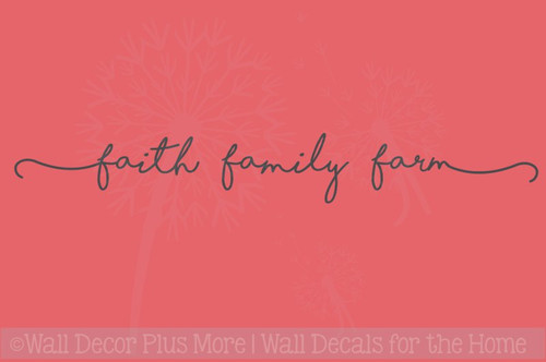 Faith Family Farm Wall Stickers Vinyl Lettering Decals Home Decor
