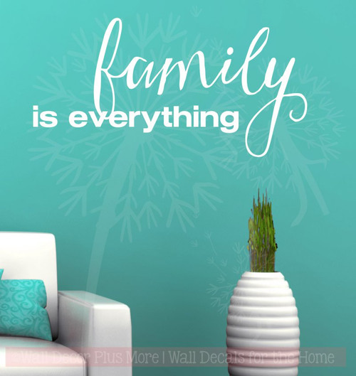 Family Is Everything Quotes Vinyl Lettering Wall Decals Sticker-White