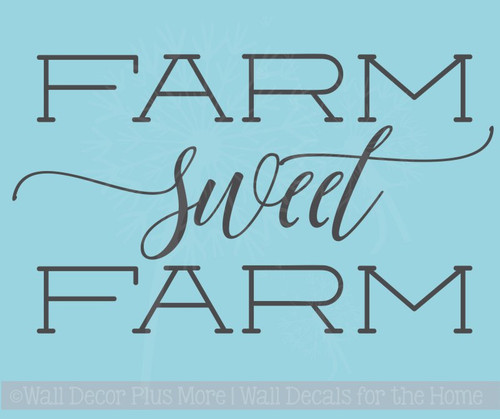 Farm Sweet Farm Vinyl Stickers Wall Decals Farmhouse Quotes