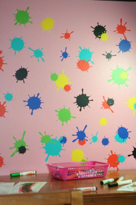 mud splatter splotch wall art decal stickers kids room or playroom decor Multiple Sheets shown