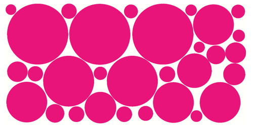 Polka Dot Wall Decor Stickers Large 6 Inch