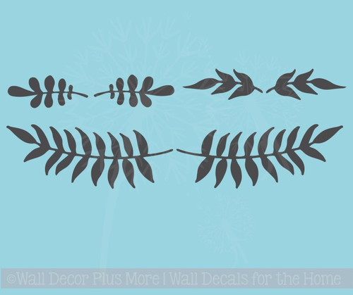 Olive Branch Art Vinyl Stickers Wall Art Decals Home Décor Set of 6