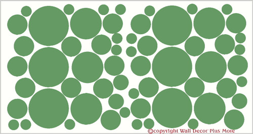 Polka Dot 4Inch Wall Decor Sticker Variety Package
