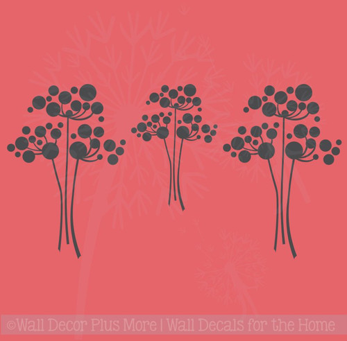 Flower Wall Decals Vinyl Art Home Wall Décor Stickers Set of 3 Flowers