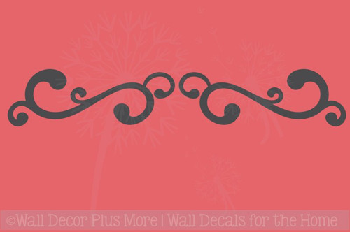 Swirl Decals Vinyl Art Wall Stickers Living Room Home Wall Décor 2pc
