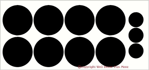 Polka Dot Wall Vinyl Stickers 5-Inch Size