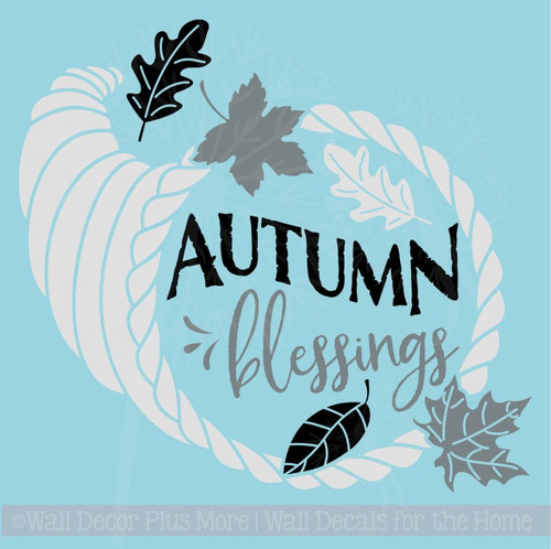 Autumn Blessings Fall Home Decor Vinyl Decals Wall Art Stickers