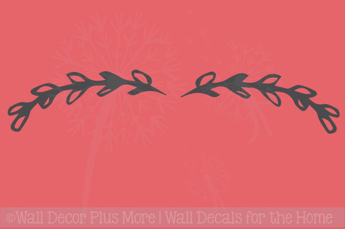 Laurel Floral Elements and Pieces Vinyl Art Stickers Wall Decals
