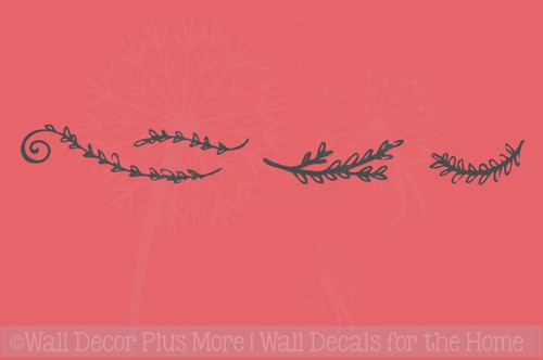 Laurel Floral Elements Pieces Vinyl Art Wall Decals Stickers Decor