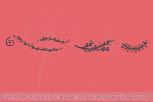 Laurel Floral Elements Pieces Vinyl Art Wall Decals Stickers Decor