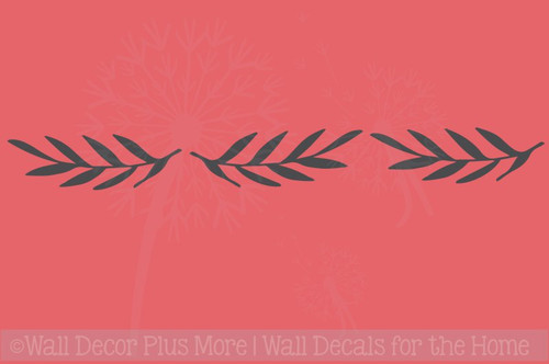 Laurel Wreath Leaves Elements Vinyl Art Decals Floral Wall Stickers