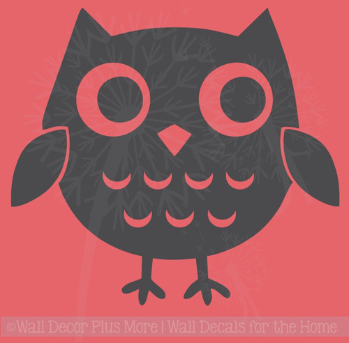 Owl Girls Vinyl Art Decals Bedroom Decor Nursery Wall Stickers