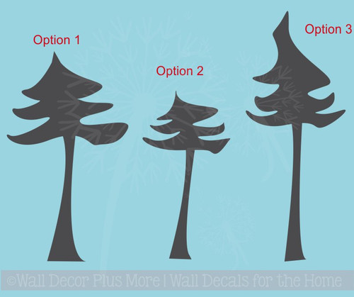 Pine Tree Wall Stickers Bedroom Art Vinyl Decals Large Wall Stickers