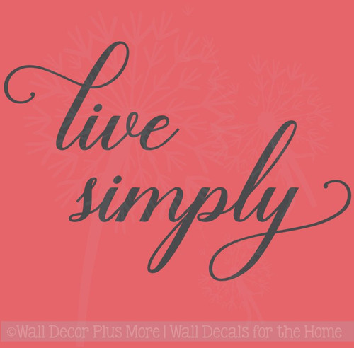 Live Simply Inspirational Vinyl Letters Wall Sticker Decals for Home Decor