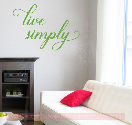 Live Simply Inspirational Vinyl Letters Wall Sticker Decals for Home Decor-Lime Green