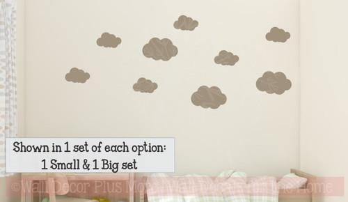 Clouds Boy Bedroom Vinyl Stickers Wall Decals Art Sky Girls Decor-Tumbleweed