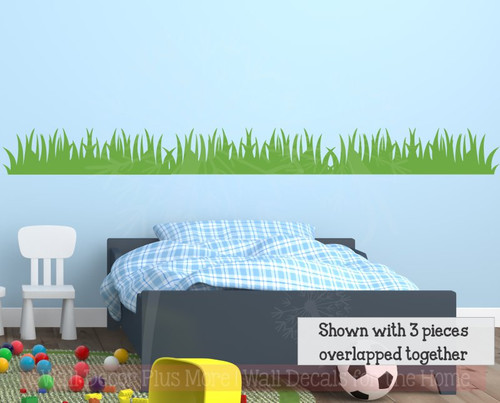 Grass Wall Decals Vinyl Sticker Art Nursery Bedroom Jungle Decor-Lime Green