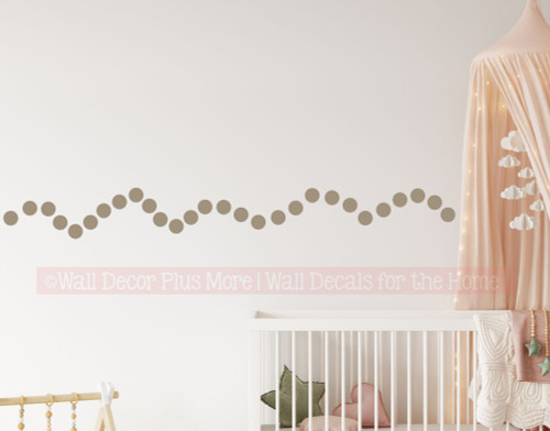 3 Inch Dots for Nursery Decor Whimsical Theme - Kids Fun Easy to Apply