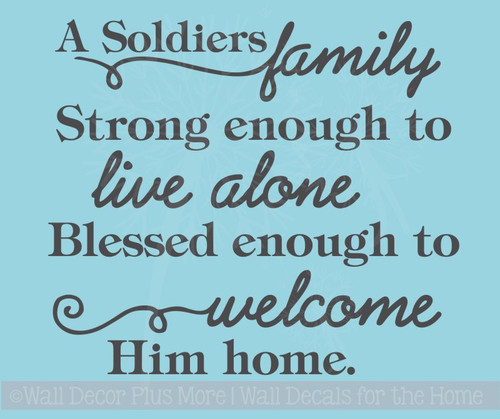 A Soldiers Family Vinyl Lettering Tile Wall Stickers Military Decals