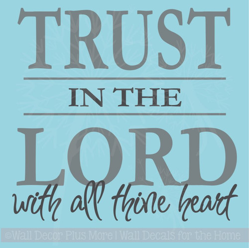 Trust the Lord Wall Decals Saying Vinyl Letters Religious Home Decor