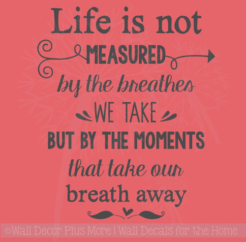 Moments Take Our Breath Away Vinyl Letters Stickers Family Wall Décor Quotes