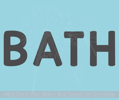 Bath Letters Vinyl Wall Art Stickers for Bathroom Bold Wall Decals Quotes