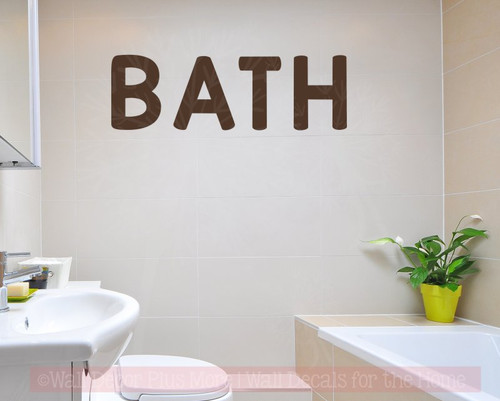 bath letters vinyl wall art stickers for bathroom bold wall decals