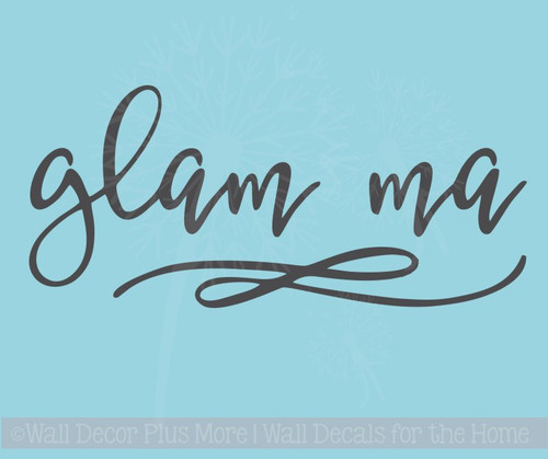 Glam Ma Car Decal Vinyl Letters Art Cool Mom Grandma Car Window Sticker Decals