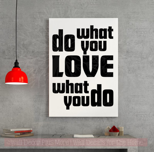Do What You Love Inspirational Vinyl Decals Quote Wall Stickers for Décor-Black